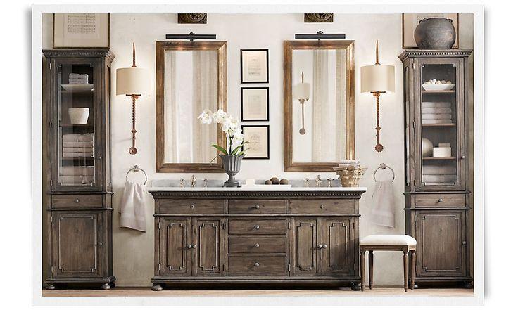 rooms restoration hardware dream bathroom pinterest double sink vanity google images. Black Bedroom Furniture Sets. Home Design Ideas
