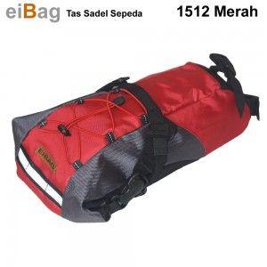 #tassadelsepeda Tas sadel sepeda Bandung EIBAG 1512 series tersedia 2 warna pilihan yaitu hitam abu dan abu merah dengan ukuran 40 x 13 x 11 cm bisa muat menyimpan raincoat