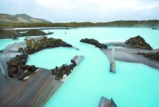 Iceland's Blue Lagoon Spa Bubbles with Nutrient-Rich Geothermal ...