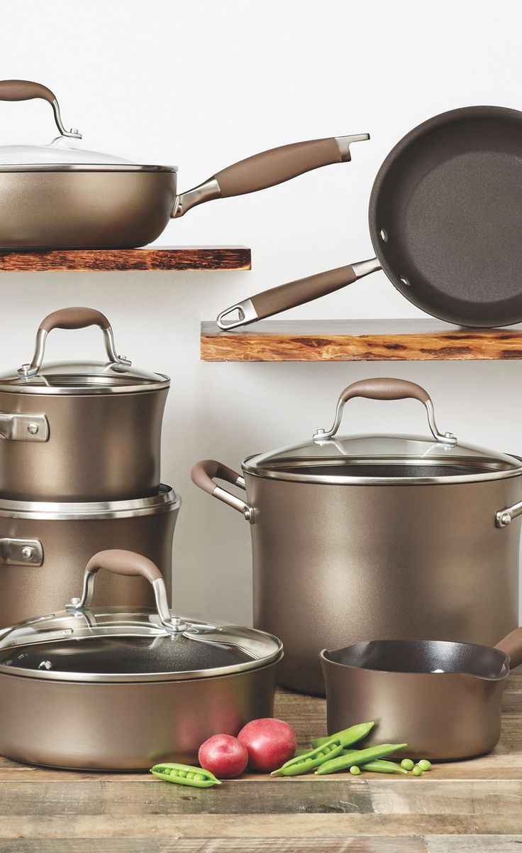 This gorgeous bronze cookware set from Anolon has everything you need to impress in the kitchen. Get it now during our home sale!