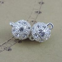 4 шт. серебряный сплав создания бриллиант круглый изготовления ювелирных изделий разъем подвески подвески бусины 39291