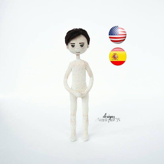 Pattern Doll Boy amigurumi crochet doll crochet doll | Dolls for Mom ...