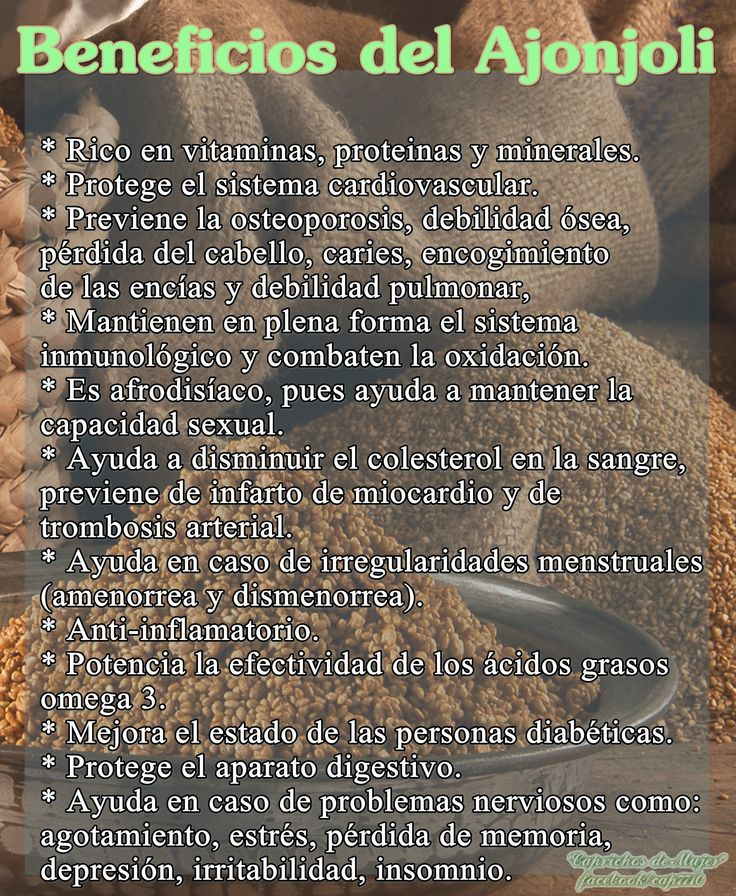 Conozcamos los beneficios del sésamo....cuya semilla es el ajonjolí