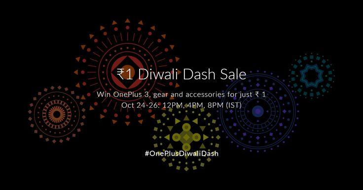 #OnePlusDiwaliDash ₹ 1 Sale underway!