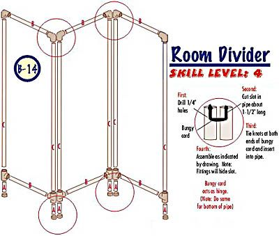 Diy pvc room divider diy e ideas casa pinterest decks do it yourself and dividers for rooms - Temporary room dividers diy ...