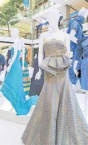Thai silk fashion by Thai designer