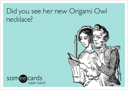 Did you see her new Origami Owl necklace?