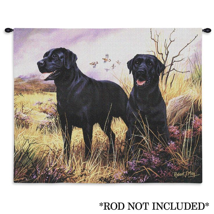 Black Labs Wall Tapestry 66 best Lab