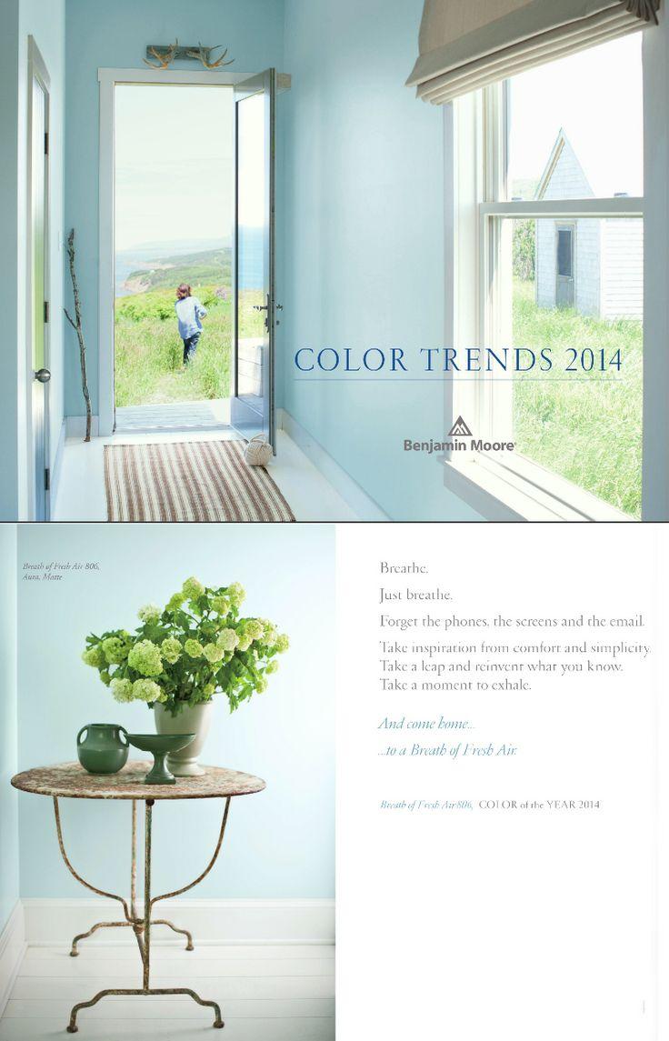 Breath Of Fresh Air 806 Benjamin Moore Color Of The Year