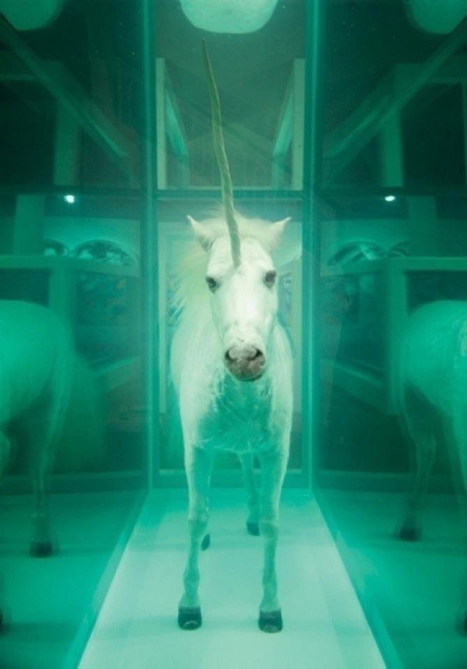 Damien Hirst. Unicorn – The Dream is Dead. 2005 Billy Blue - Damien Hirst 1991 !!!!! LOBROW (DEVIANT ART) vu à Lille tri postal