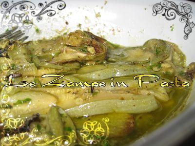 Le Zampe in pasta: Zucchine in salsa d'erbe