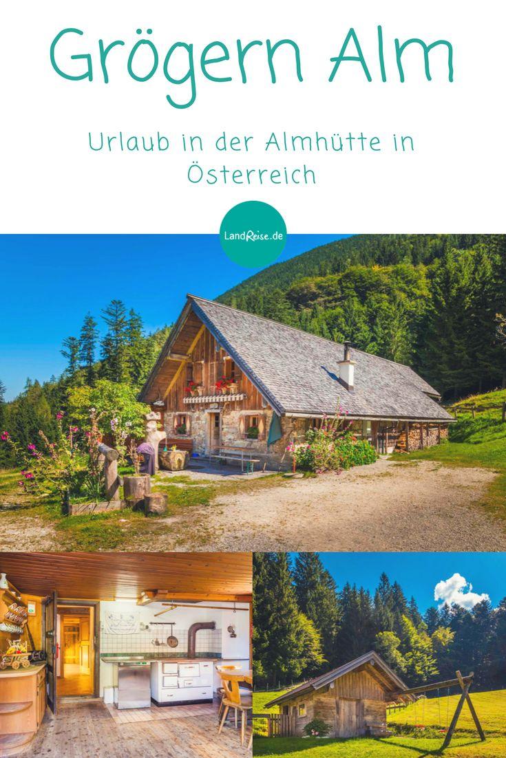 Urlaub in der Almhütte in Österreich.