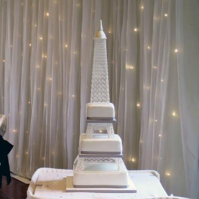 Paris inspired Wedding Cake