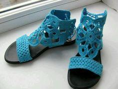 sandalias tejidas a crochet para adultos - Buscar con Google