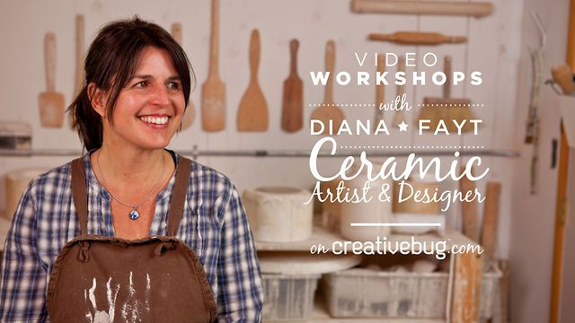 Diana Fayt on Creativebug by Creativebug. Diana entered the California College of Arts and Crafts and experimented with printmaking and ceramics. By the end of her four years, she had initiated the course toward her present work.