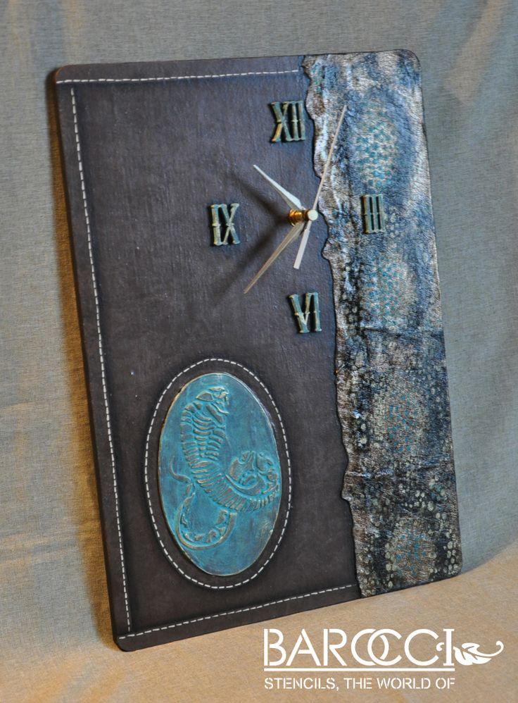 Часы «Ориенталь или год змеи»   Трафареты Barocci