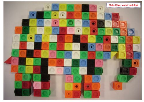 Make an Elmer the Elephant model with multi-link by - UK Teaching ...