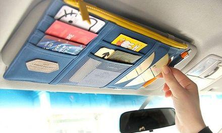Comodo organizer da mettere sull'aletta parasole della tua auto, ideale per tenere in ordine documenti, CD o altri accessori