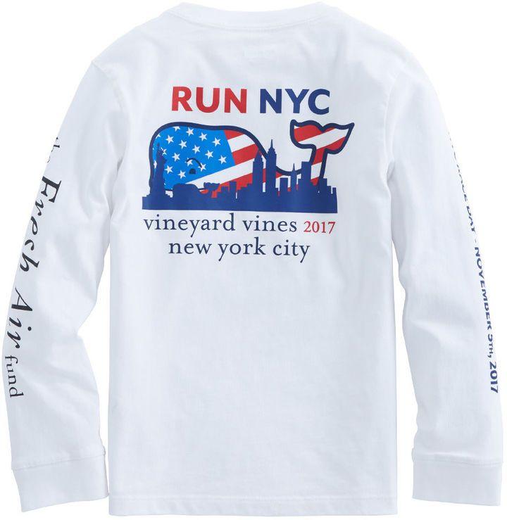 Vineyard Vines Kids Long-Sleeve 2017 NYC Marathon T-Shirt