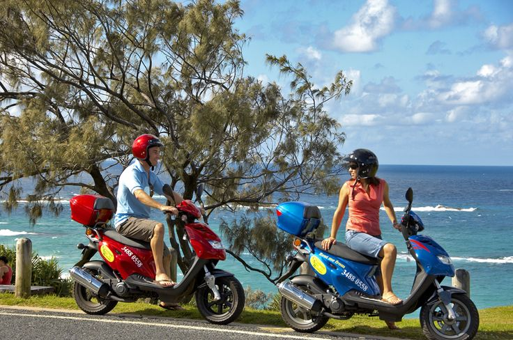 Hire an electric scooter and explore North Stradbroke Island. You can hire them from Anchorage Village Resort at Point Lookout. #Straddie #weloveStraddie