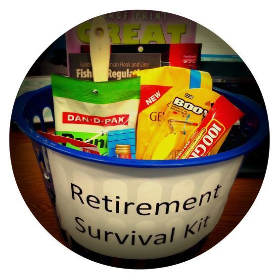 Homemade Retirement Gift for Dad. Retirement survival gift.