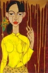 By Zwe Yan Naing; this painting would be so on my wall if I could get my hands on it!