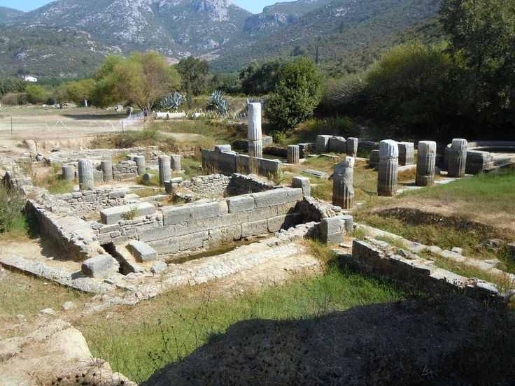 Teil der Tempelanlage Klaros Bilder Burg/Palast/Schloss/Ruine Antike Tempelanlage Klaros