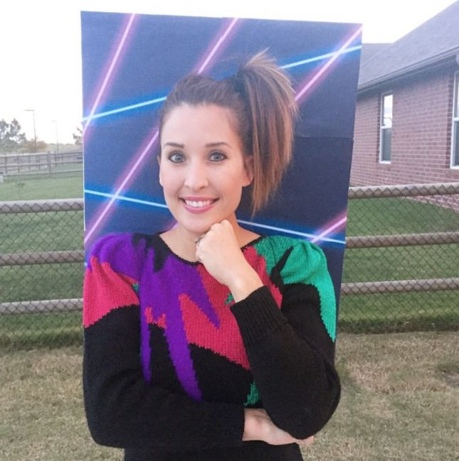 Embrace the bad school photo aesthetic with this '80s glamour shot costume.