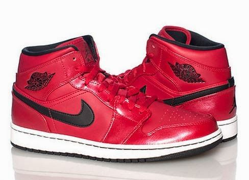Here is a look the the brand new Air Jordan Retro 1 mid in Red/Black  Available Now HERE , these are real fresh!