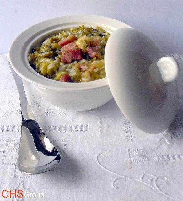 risotto con pancetta e verza