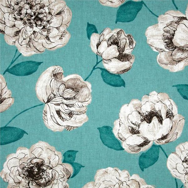 This is a blue, white and gray floral drapery fabric by P Kaufmann Fabrics, suitable for any decor in the home or office. Perfect for pillows, drapes and bedding.v164TEF