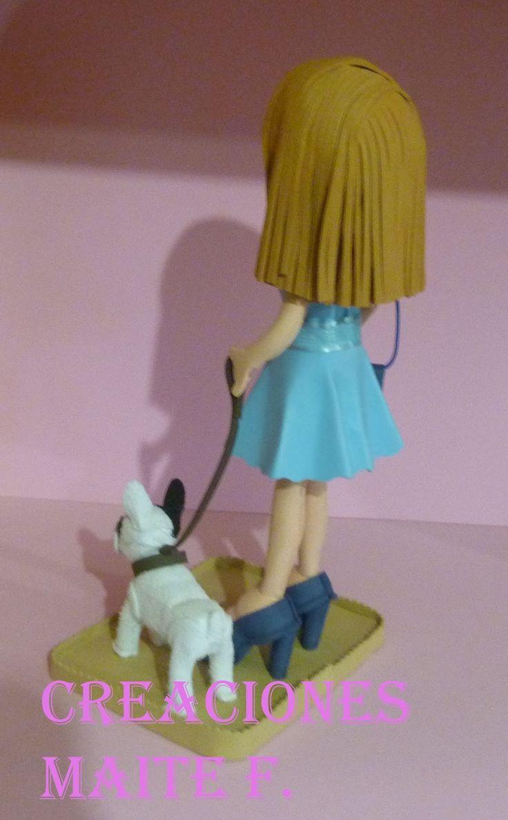 FOFUCHA PERSONALIZADA Es una chica muy presumida. Con el perlo Rubio, el vestido de vuelo Azul, piernas torneadas, zapatos de tacón y bolso...
