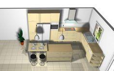 Ilot de cuisine avec table amovible - 6 messages