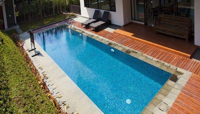 villa di dago pakar dengan kolam renang