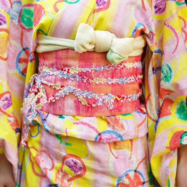 【名古屋帯】お子様ランチ柄 | Kumamiki Shop