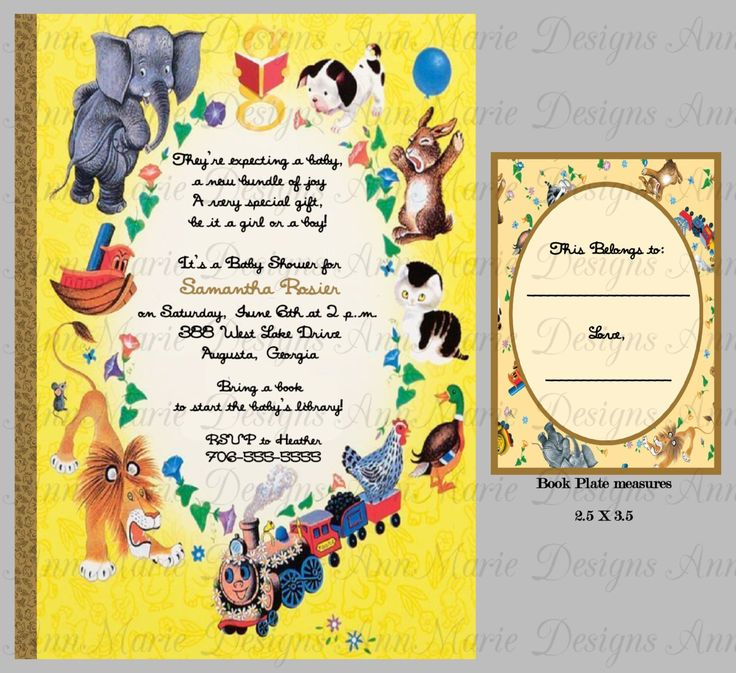 Baby Showers Reading ~ Inspired by the little golden books baby shower invitation