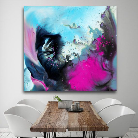 Abstract painting on Plexiglas acrylic Print high by BuyWallArt