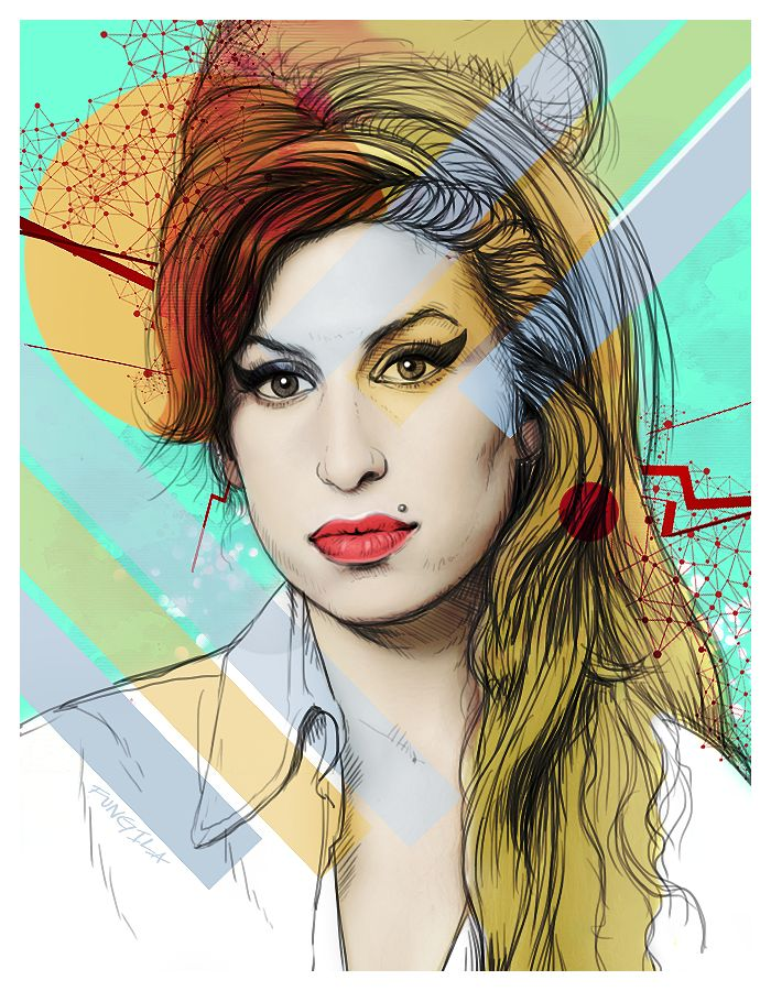 Amy Winehouse #illustration #amywinehouse