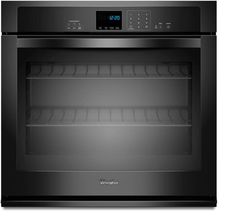 Whirlpool WOS51EC0AB 30 Inch Single Electric Wall Oven with 5.0 cu. ft. Capacity, AccuBake, Hidden Bake Element, Extra-Large Oven Window, SteamClean, Precise Clean and Star-K Certified Sabbath Mode: Black