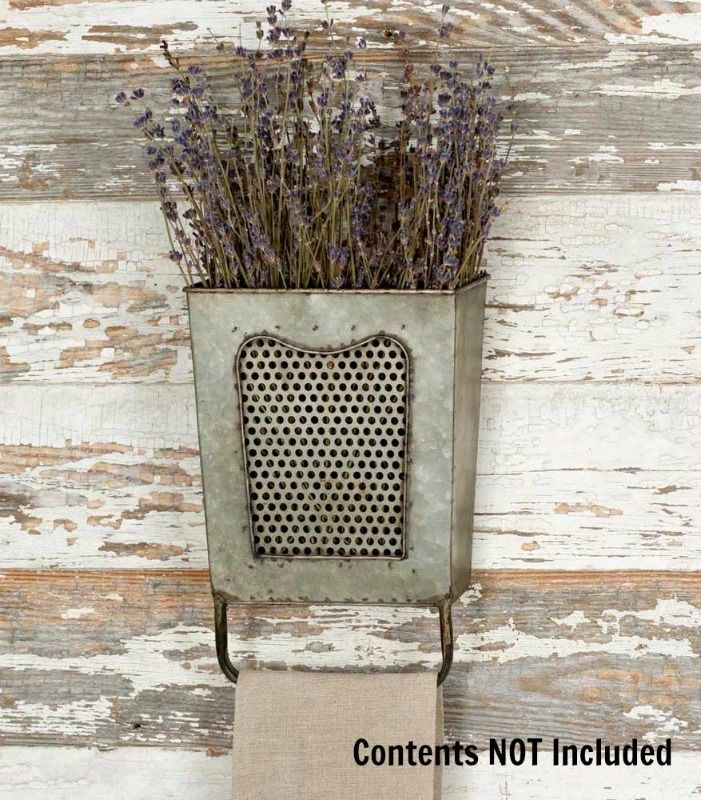 New French Country Primitive Cheese Grater Towel Bar Wall Rack Hanger #NoBrand