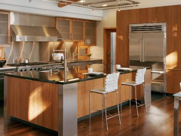 Photo of Brown Kitchen project in Emerald Hills, CA by Kaplan Architects