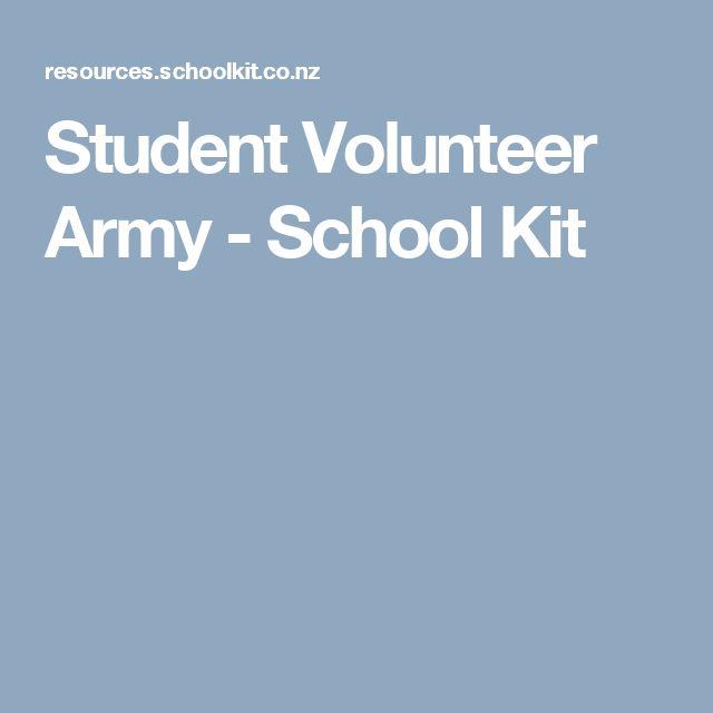 Student Volunteer Army - School Kit