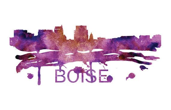 Boise Art, Boise Skyline, Boise map, Boise wall art, Boise map print  A beautiful Watercolor Art print of Boise, Idaho. Perfect for an office or a gift to one of your friends. This is one vacation you do not want to miss! :::Print Details::: * Prints are printed with high quality ink on high quality paper (100lb). *Posters includes 1/8in bleed (border) around poster * Colors may vary slightly based on your computer monitor settings. * Frame and matte are not included.  :::Shipping…