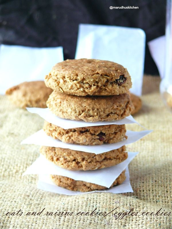 "Even though we use butter for this cookie we can justify that it is a ""kind of"" healthy oats and raisins cookies for the reason that only minimal .."