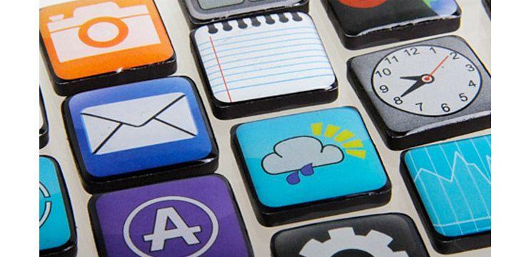 Imanes para la nevera de los iconos iPhone. AHORRO -50%. 7.48€. #ofertas #descuentos