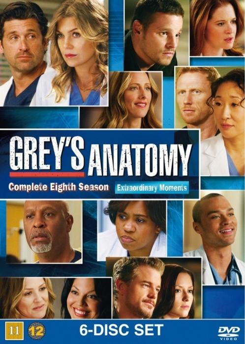 Greys Hvide Verden - Sæson 8 >> Greys Anatomy - Season 8 >> Dvd Film >> Køb Dvd Film Til Lave Priser Online