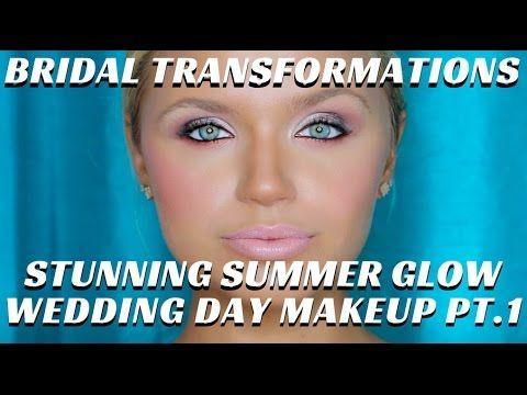 STUNNING SUMMER GLOW BRIDAL MAKEUP VIDEO PART1 BRIDAL TRANSFORMATIONS VIDEO- mathias4makeup - YouTube