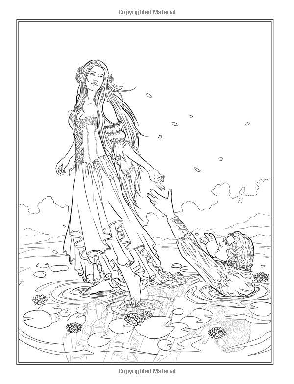 dark fantasy coloring pages - photo#6