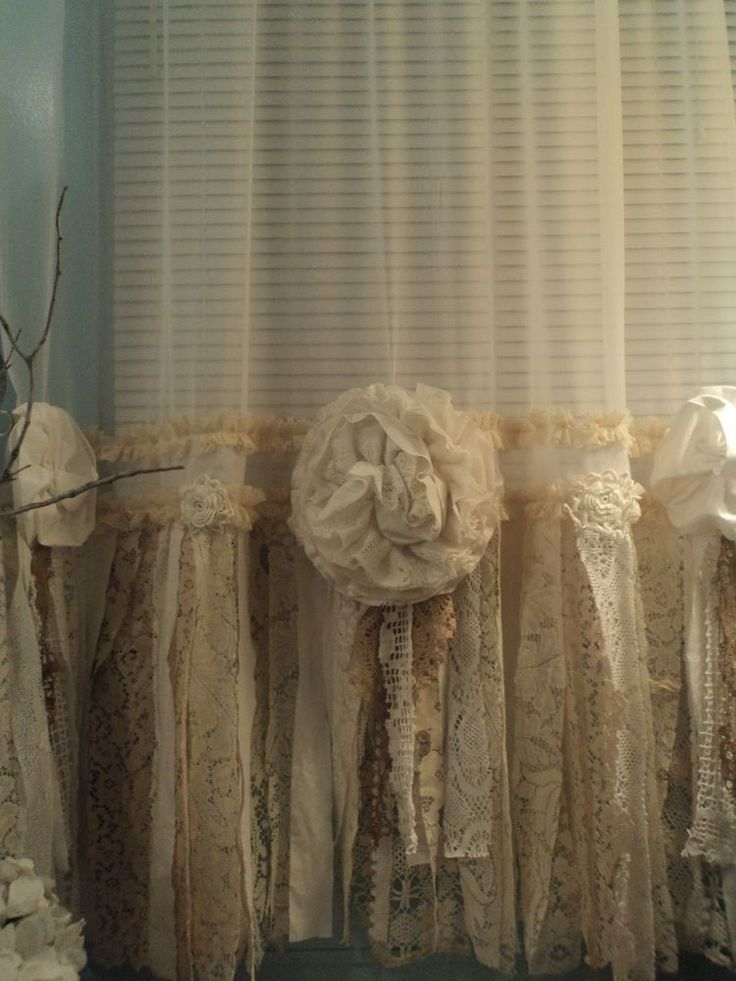 window treatments lace and cottages on pinterest. Black Bedroom Furniture Sets. Home Design Ideas