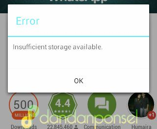 "Cara Mengatasi Error ""Insufficient Storage Available"" di Android"